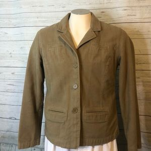 American Eagle Light Brown Button Blazer L Pockets